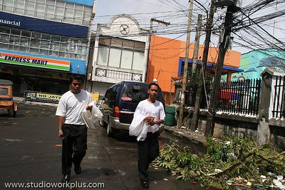 MRS Typhoon in Bicol-13, They were going to the church for a wedding.  Nothing can stop the wedding no matter what.