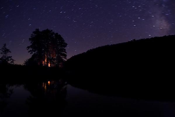 Fire glow under the Stars