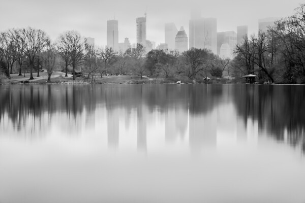 Foggy day in Central Park