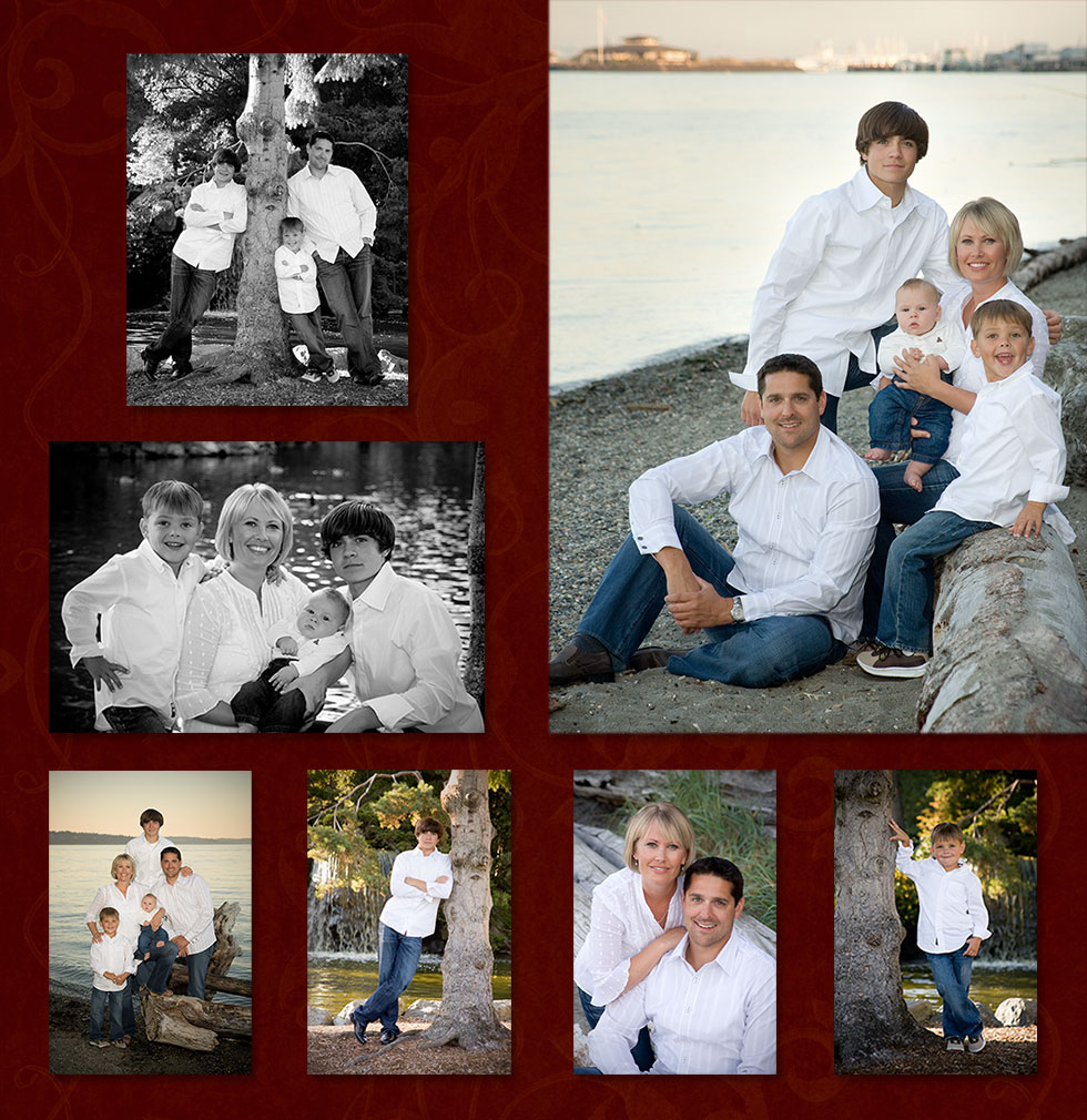 Family Portrait at Point Defiance Park, Family Portrait at Owen Beach, Tacoma WA