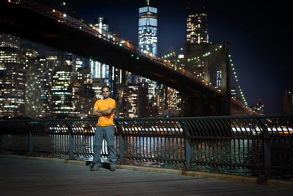 An Evening Under Brooklyn Bridge, NY