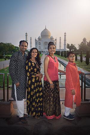 The family at Taj Mahal, Agra.