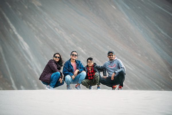 Enjoying the Sands of Pangong Lake (Leh-Ladakh)