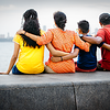 We are one family, enjoying the sunset at Marine Lines, Mumbai