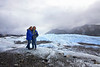 That is ice under Kassidy and Alejandro. They are standing on the toe of the Matanuska Glacier.