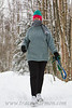 "Kim, on one of her ""nothing like a brisk January walk in Alaska to get the blood going"" walks!"