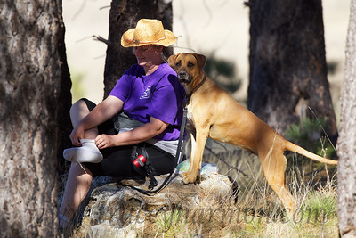 Kim and Lucy take a break while hiking Cuyamaca Rancho State Park in southern California.