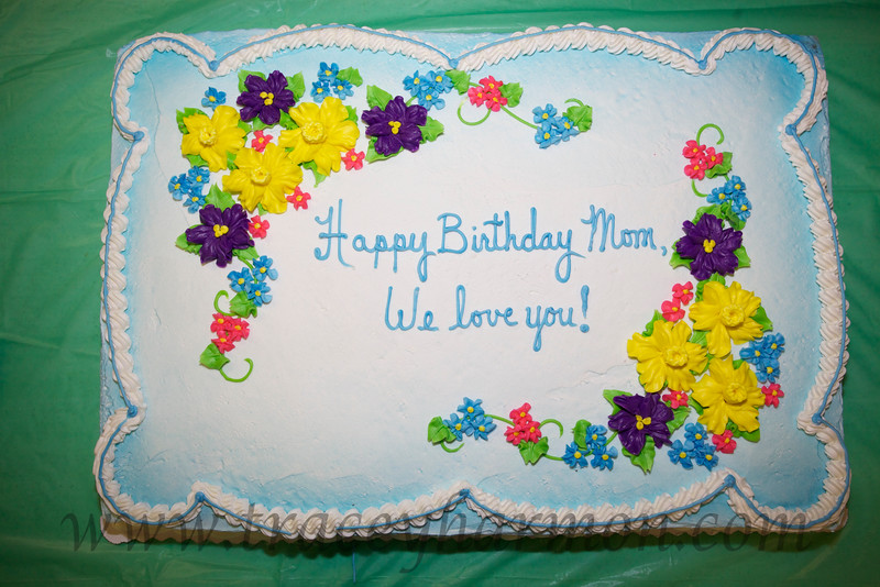 Mom's birthday cake. The message is simple and to the point...we love you!