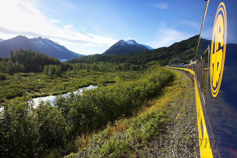 The views one gets when riding the Alaska Railroad train are simply not to be missed.
