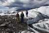 Photo op on the Matanuska Glacier with Katrina and Steve Kemp, and friend Marshall Maez.