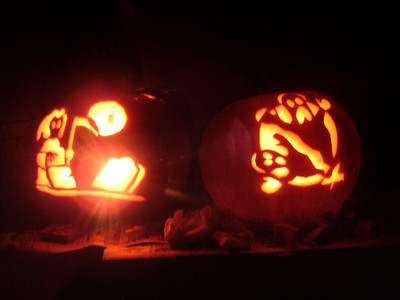 Amie's and Rama's Jack-o-lanterns
