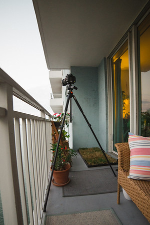 Pictures From Our Porch:  Blue Hour Time-lapse, behind the scene