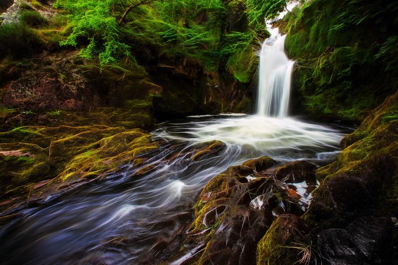 waterfall glow