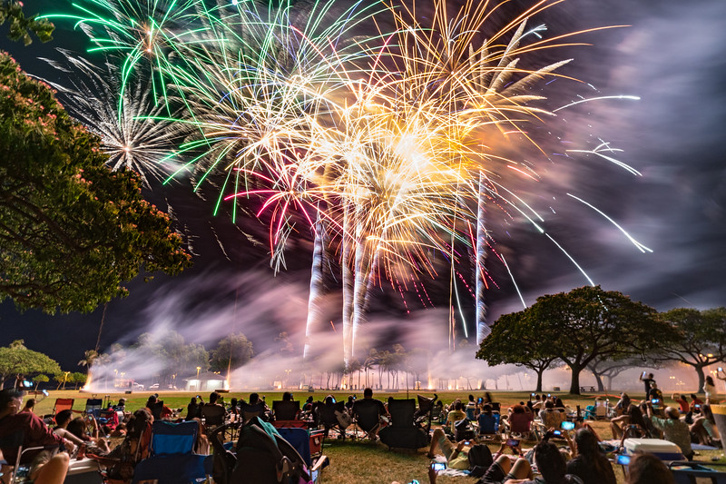 Fireworks at Magic Island