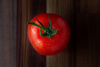 Tomato viewed from the top down