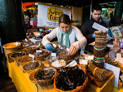 Licorice vendor. Borough Market, London.