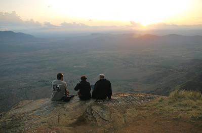 Traveling companions enjoying the sunset over Lushoto, TZ.