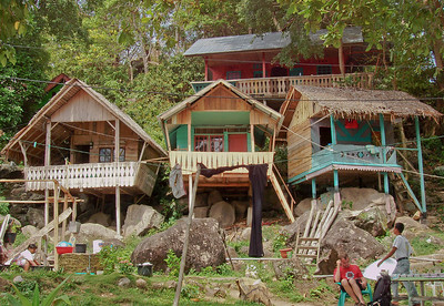 Beach bungalows in Iboih beach, Pulau Weh