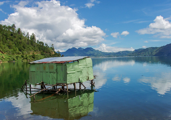 Fishing house, Laut Tawar lake, Takengon