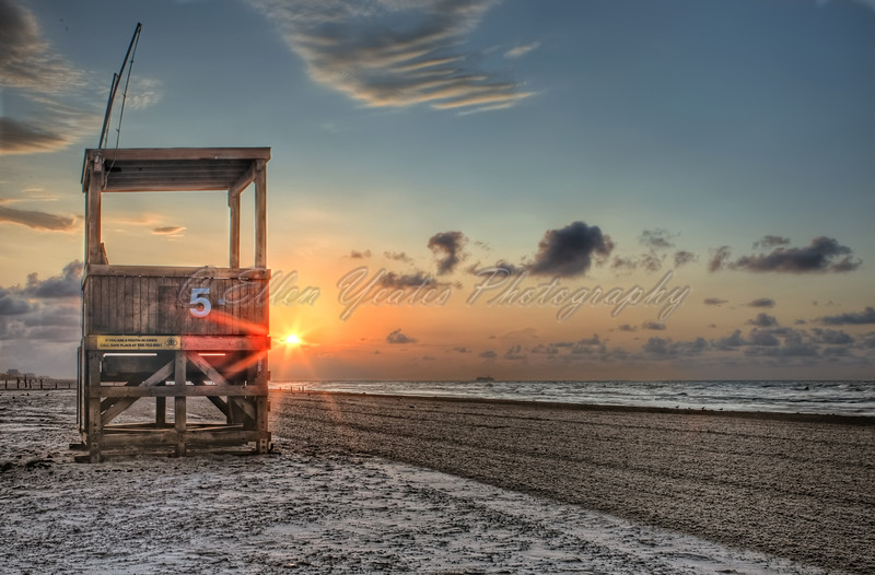 Life Guard House during Sunrise