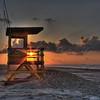 Empty guard Bench - Sunrise