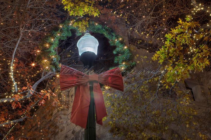 Christmas Wreath Light Pole<br /> <br /> AT Georgetown, Texas
