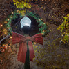 Christmas Wreath Light Pole<br /> <br /> AT Georgetown, Texas