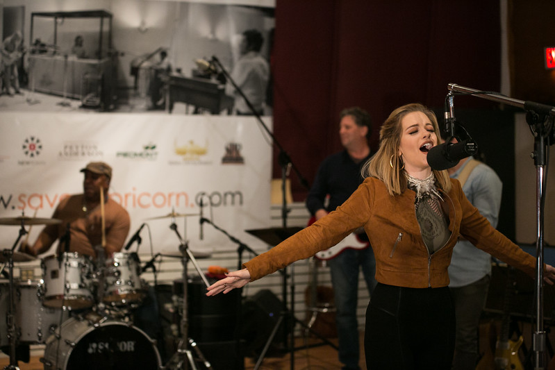 Mercer Music at Capricorn. Betty Cantrell performs in studio with Steve Ivey. Photo by Christopher Ian Smith