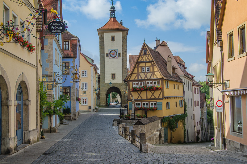 The old town of Rothenburg ob der Tauber