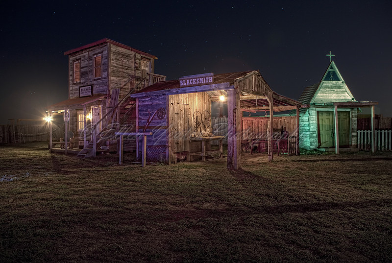 Ghost Town - Hotel, Blacksmith and Church (HDR)