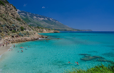 Amazing colors in the beach of Agios Thomas, Kefalonia