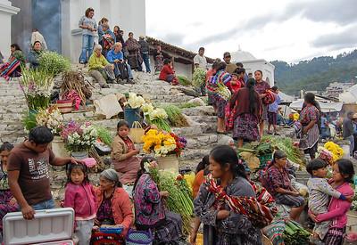 Maya market in Chichicastenango