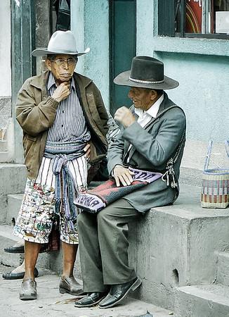 Local Maya in the streets of San Pedro Altitlan