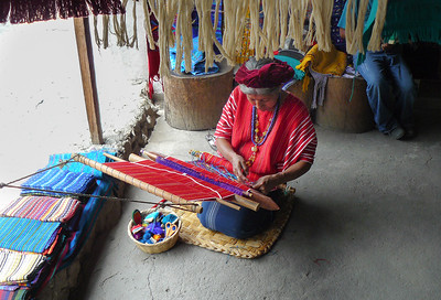 Traditional Maya artisan