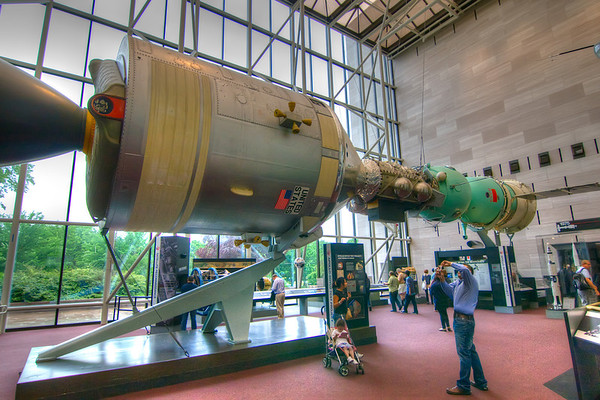 Apollo-Soyuz Test Project<br /> The final flight of the Apollo program was the first spaceflight in which spacecraft from different nations docked in space.