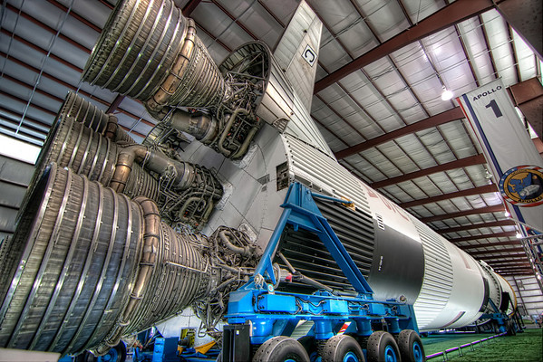 Rocket Power<br /> At full throttle, the Saturn V's five first-stage engines produced a thundering 7.6 million pounds of thrust at liftoff.