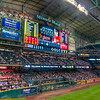 Minute Maid's Scoreboard<br /> The scoreboard in Houston is one of the best I've seen. The picture is sharp, bright, colorful and the video makes you want to sneak it out and take it home.