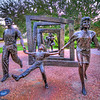 The Cancer Maze<br /> The Cancer Survivor Plaza by Herman Park in Houston has a sculpture depicting people walking through the maze of cancer treatments on the way to survival.