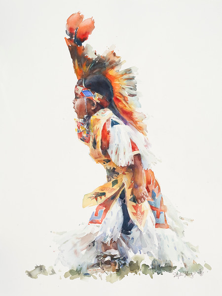 Powwow—Boy in Orange