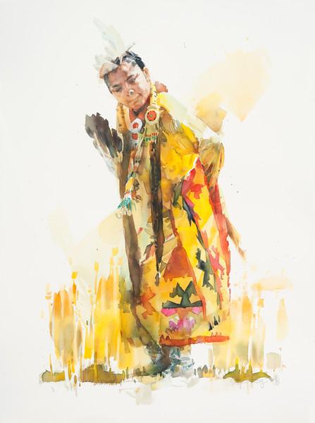 Powwow—Girl in Yellow