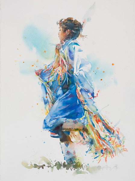 Powwow—Girl in Blue