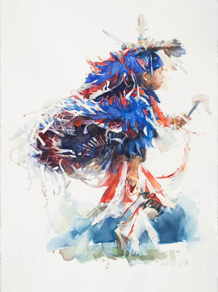 Powwow—Boy in Blue