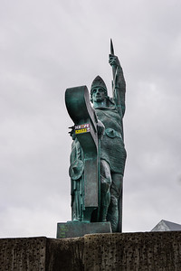 Statue of Viking Ingolfur Arnarson, whose family settled Iceland in 874