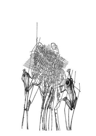 Untitled / ink on paper (unframed) / 42cm x 29.7cm / original £100 / image 0057