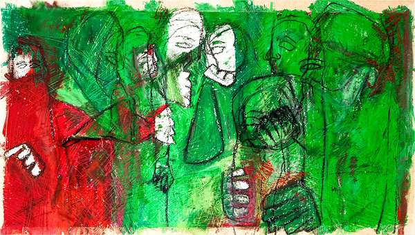 True Colours / mixed media on paper (mounted - not framed) / 42.5cm x 74cm / original £230 / image 2961