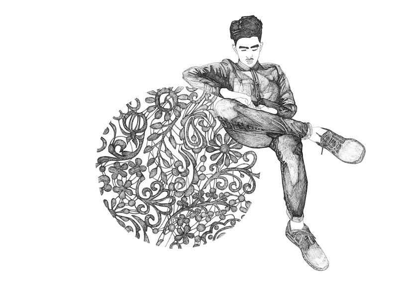 Untitled / ink on paper (unframed) / 29.7cm x 42cm / original £100 / image 0076