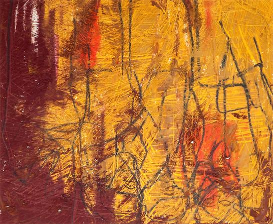 Untitled / oil bars & pastels on paper (mounted - not framed) / 46cm x 56cm / original £95 / image 2977