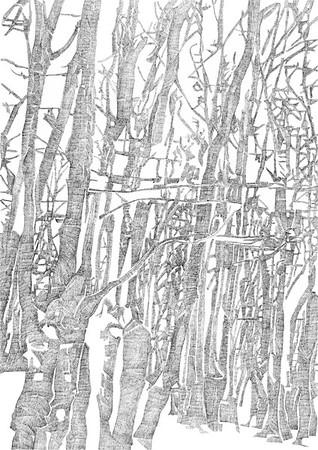 Epping / ink on paper (unframed) / 84.1cm x 59.4cm / original £450 / image 0451