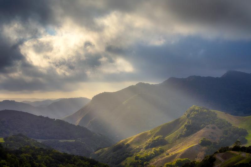 Santa Rosa Creek Road Crepuscular Rays