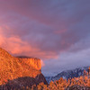 El Capitan Pink Clouds Vertical